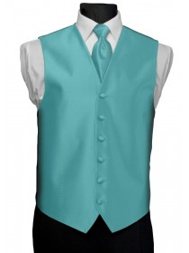 'After Six' Aries Full Back Vest - Turquoise