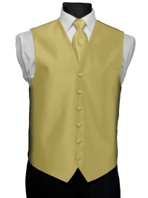 'After Six' Aries Full Back Vest - Maize