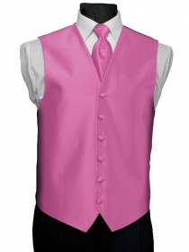 'After Six' Aries Full Back Vest - Fuschia