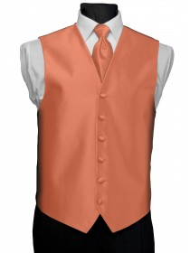 'After Six' Aries Full Back Vest - Coral